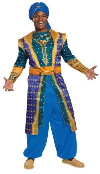 Men's Genie Deluxe Costume - Aladdin Live Action - Adult 2X (50 - 52)