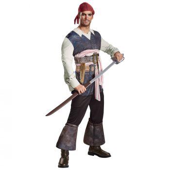 Men's Captain Jack Classic Costume - Pirates Of The Caribbean 5 - Adult 2X (50 - 52)