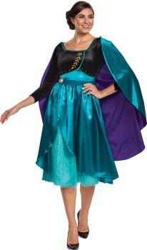 Women's Queen Anna Dress Deluxe Costume - Adult MD (8 - 10)