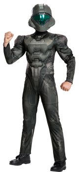 Boy's Spartan Buck Classic Muscle Costume - Halo - Child L (10 - 12)