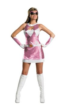 Women's Sassy Pink Power Ranger Costume - Adult M (8 - 10)