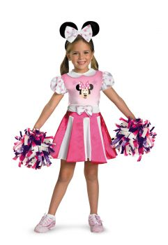Girl's Minnie Mouse Cheerleader Costume - Child S (4 - 6X)