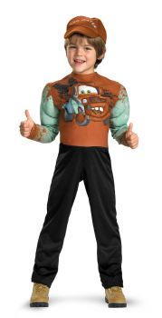 Boy's Tow Mater Muscle Costume - Cars - Child S (4 - 6)