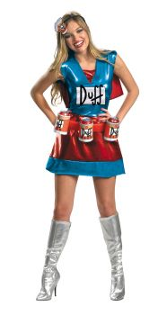 Women's Duffwoman Deluxe Costume - The Simpsons - Adult M (8 - 10)