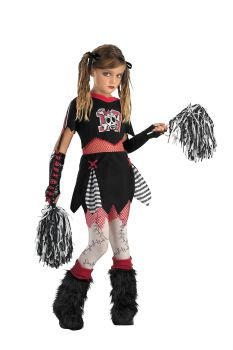Girl's Cheerless Leader Costume - Child L (10 - 12)