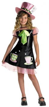 Girl's Mad Hatter Classic Costume - Child L (10 - 12)