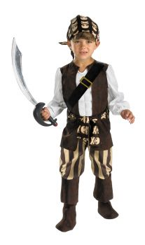 Boy's Rogue Pirate Deluxe Costume - Child S (4 - 6)