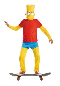 Boy's Bart Simpson Deluxe Costume - The Simpsons - Child M (7 - 8)