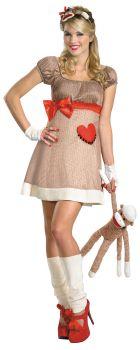 Ms. Sock Monkey Deluxe Costume - Adult M (8 - 10)