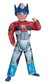 Boy's Optimus Prime Rescue Bot Toddler Muscle Costume - Toddler (3 - 4T)