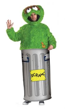 Men's Retro Oscar The Grouch Costume - Sesame Street - Adult XL (42 - 46)