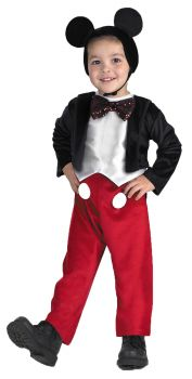 Boy's Mickey Mouse Deluxe Costume - Child S (4 - 6)
