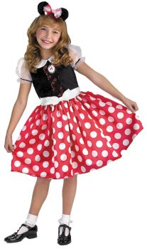 Girl's Minnie Mouse Classic Costume - Child M (7 - 8)