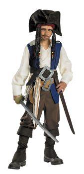 Boy's Captain Jack Sparrow Deluxe Costume - Child M (7 - 8)