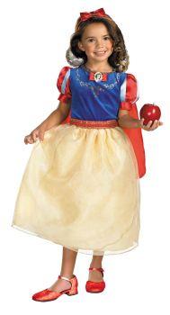 Girl's Snow White Deluxe Costume - Child M (7 - 8)
