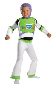 Boy's Buzz Lightyear Deluxe Costume - Toy Story - Child M (7 - 8)