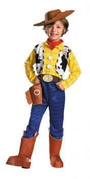 Boy's Woody Deluxe Costume - Toy Story - Child M (7 - 8)
