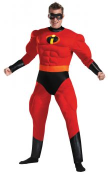 Men's Mr. Incredible Deluxe Muscle Costume - Adult XL (42 - 46)