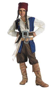 Boy's Captain Jack Sparrow Classic Costume - Pirates Of The Caribbean - Child M (7 - 8)