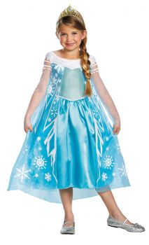 Girl's Elsa Deluxe Costume - Frozen - Child L (10 - 12)