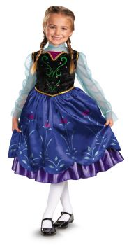 Girl's Anna Traveling Deluxe Costume - Frozen - Child S (4 - 6X)