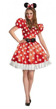 Women's Red Minnie Classic Costume - Adult M (8 - 10)