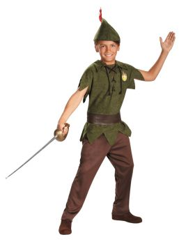 Boy's Peter Pan Classic Costume - Child S (4 - 6)