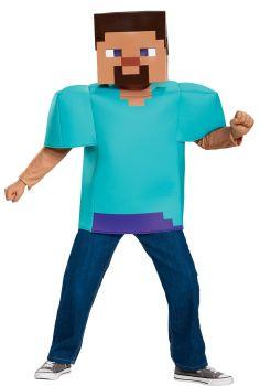 Boy's Steve Classic Costume - Minecraft - Child L (10 - 12)