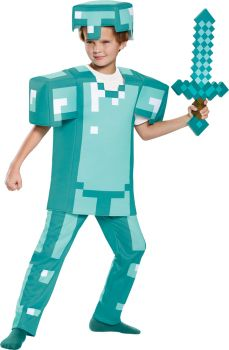 Minecraft Armor Deluxe Child Costume - Child LG (10 - 12)
