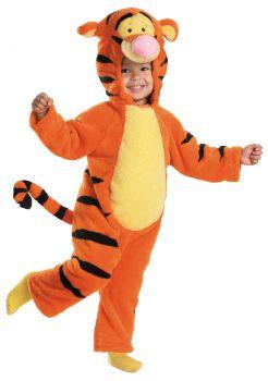 Boy's Tigger Deluxe Plush Costume - Winnie The Pooh - Child S (4 - 6X)