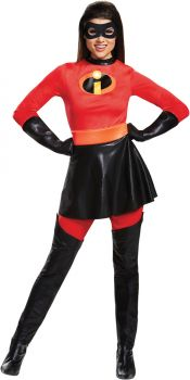Women's Mrs. Incredible Skirted Deluxe Costume - The Incredibles 2 - Adult M (8 - 10)