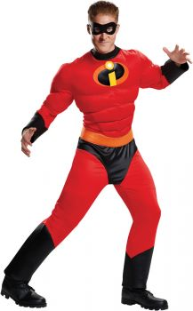 Men's Mr. Incredible Classic Muscle Costume - The Incredibles 2 - Adult 2X (50 - 52)