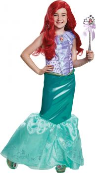 Girl's Ariel Deluxe Costume - The Little Mermaid - Child M (7 - 8)