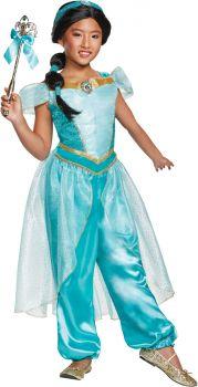 Girl's Jasmine Deluxe Costume - Child M (7 - 8)