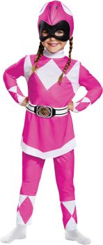 Pink Ranger Classic Toddler Costume - Mighty Morphin - Toddler (3 - 4T)