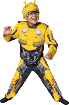 Bumblebee Muscle Costume - Transformers Movie - Toddler (3 - 4T)