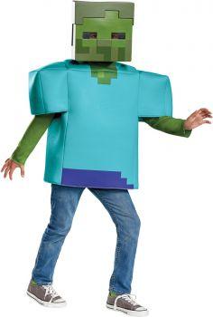 Boy's Zombie Classic Costume - Minecraft - Child L (10 - 12)