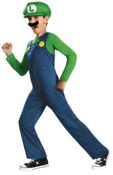 Boy's Luigi Classic Costume - Child M (7 - 8)