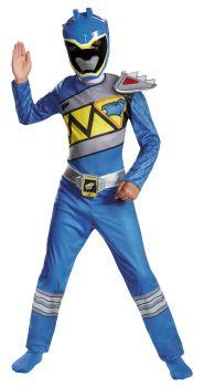 Boy's Blue Ranger Classic Costume - Dino Charge - Child M (7 - 8)