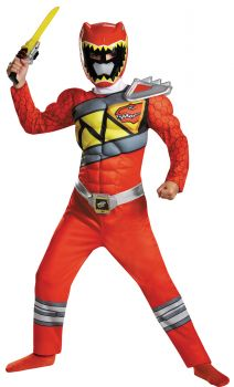 Boy's Red Ranger Classic Muscle Costume - Dino Charge - Child S (4 - 6)