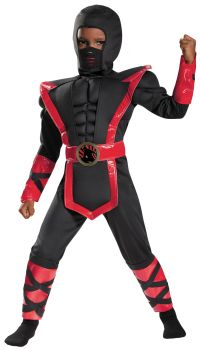 Boy's Ninja Muscle Costume - Child S (4 - 6)