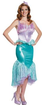 Women's Ariel Deluxe Costume - The Little Mermaid - Adult M (8 - 10)