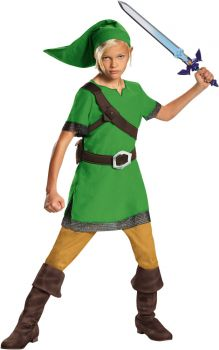 Boy's Link Classic Costume - The Legend Of Zelda - Child L (10 - 12)