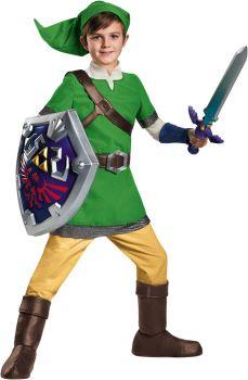 Boy's Link Deluxe Costume - The Legend Of Zelda - Child L (10 - 12)