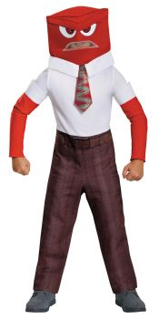 Boy's Anger Classic Costume - Inside Out - Child M (7 - 8)