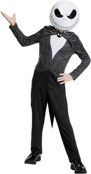 Boy's Jack Skellington Classic Costume - The Nightmare Before Christmas - Child L (10 - 12)