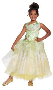 Girl's Tiana Deluxe Costume - Child M (7 - 8)