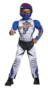 Boy's Motorcycle Rider Muscle Costume - Child S (4 - 6)