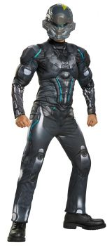 Boy's Spartan Locke Classic Muscle Costume - Halo - Teen (14 - 16)