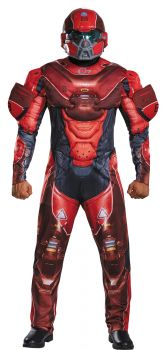 Men's Red Spartan Muscle Costume - Halo - Adult 2X (50 - 52)